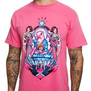 PINK DOLPHIN TRADITIONAL CREST PINK T-SHIRT